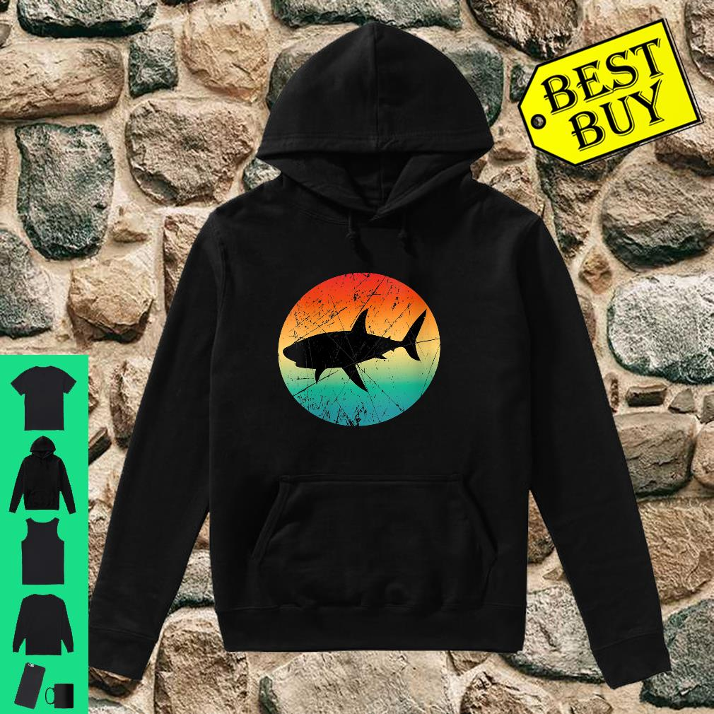 Womens Vintage Retro Style Shark Mommy Daddy Uncle Aunt Shirt hoodie