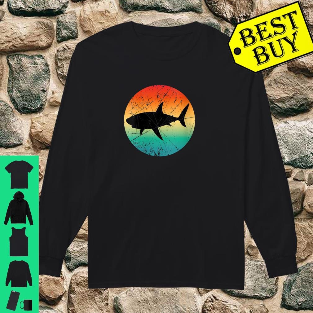 Womens Vintage Retro Style Shark Mommy Daddy Uncle Aunt Shirt long sleeved
